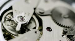 Close up watch mechanism - stock footage