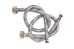 plumbing hoses isolated - stock photo