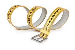 Meter belt slimming isolated Stock Photos