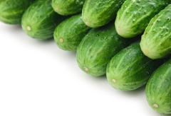 bunch of cucumbers - stock photo