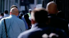 Crowds People on City Streets Stock Footage