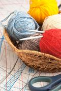 balls of yarn - stock photo