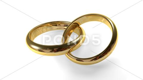 Stock Illustration of golden wedding rings