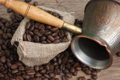 bag of coffee beans - stock photo