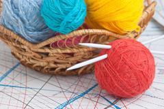 balls of yarn - stock photo