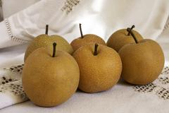 nashi pears - stock photo