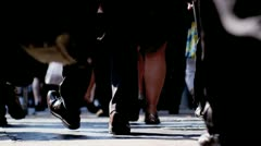 City Commuters Walking to Work - stock footage