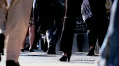 Sidewalks Busy with Tourists Commuters Stock Footage