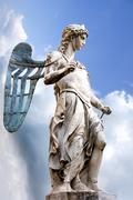St. michael - statue by raffaello da montelupo Stock Photos