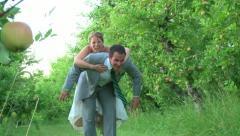 Cute Wedding Portraits Stock Footage
