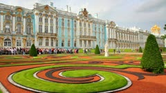 Catherine Palace in Pushkin, St. Petersburg - timelapse Stock Footage