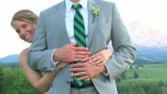 Wedding Rings on Hands Stock Footage