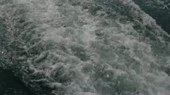 Swirling trace of the ship Stock Footage