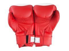 red boxing glove isolated - stock photo