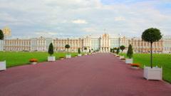 Catherine Palace in Pushkin, St. Petersburg Stock Footage