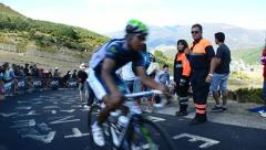 "Cyclist in ""La Vuelta"" Championship, Spain. Stock Footage"