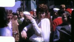 TRANSVESTITE DRAG QUEEN Mardi Gras Carnival 1950s Vintage Film Home Movie 4142 Stock Footage