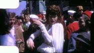 TRANSVESTITE DRAG QUEEN Mardi Gras Carnival 1950s Vintage Film Home Movie 4142 Stock Footage
