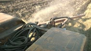 Stock Video Footage of tractor plowing a field plow 2