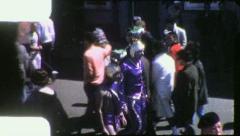 ALIENS MARTIANS Spacemen INVADERS Mardi Gras 1959 Vintage Film Home Movie 4147 - stock footage