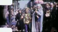 KREWE Member Costume NEW ORLEANS Mardi Gras 1959 Vintage Film Home Movie 4156 Stock Footage