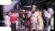 GREEK ROMAN SOLDIER GAY Mardi Gras 1950s 1960s Vintage Film Home Movie 4157 Stock Footage