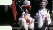HOLLYWOOD STARS Starlets Girl CROWD Mardi Gras 1959 Vintage Film Home Movie 4165 Stock Footage