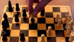 Playing chess, capturing a piece - stock footage