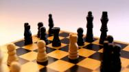 Playing chess, capturing a piece Stock Footage