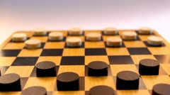 Checkers board - stock footage