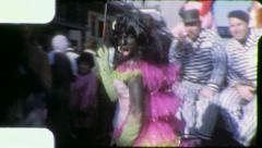 CROSS DRESSER GAY MALE Fun Mardi Gras Carnival 1959 Vintage Film Home Movie 4178 Stock Footage