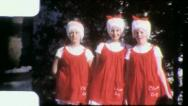 SANTA'S Helpers Girls Costume Party Mardi Gras 1960 Vintage Film Home Movie 4184 Stock Footage