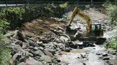 Excavator at work Stock Footage