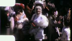 Stock Video Footage of Women MOVIE STARS NEW ORLEANS Mardi Gras Fun 1960s Vintage Film Home Movie 4189