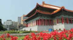 Chiang Kai-shek Memorial Hall, National Concert Hall : Slider Motion Stock Footage