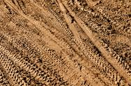 Mountain bike tracks Stock Photos