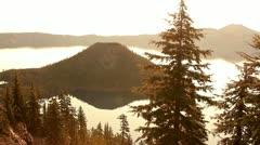 Crater Lake 52 Timelapse  Sunrise x10 Wizard Island Stock Footage