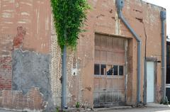 Weathered building in prosper texas Stock Photos