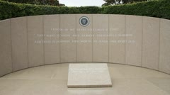 President Ronald Reagan tomb and memorial site Stock Footage