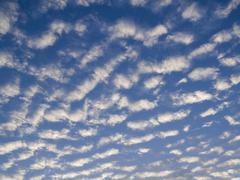 Altocumulus clouds Stock Photos