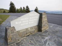 Highest point on blue ridge parkway Stock Photos