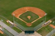 Baseball diamond playing field Stock Photos