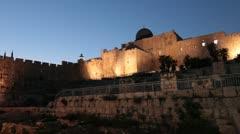 Wailing Wall, Jerusalem Exterior Stock Footage