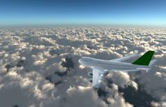 airplane away - stock illustration