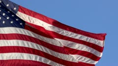Waving American Flag (Slow Motion) Stock Footage