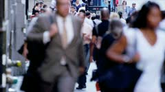 Streets Busy with Wall Street Commuters Stock Footage