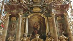 Altar in church - stock footage