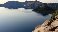 Crater Lake 62 Dolly Wizard Island Stock Footage