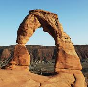delicate arch in arches national park, utah - stock photo