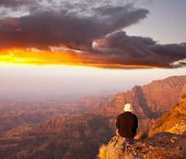 ethiopian mountains - stock photo